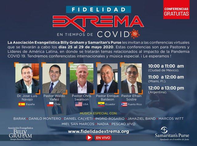 Asociación  Billy Graham celebrará la conferencia «Fidelidad Extrema en Tiempos de COVID»