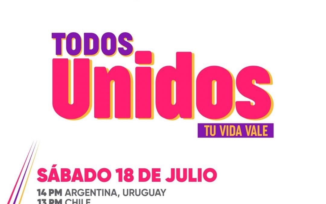 Este sábado desde Neuquén se realiza el evento TODOS UNIDOS, Tu vida vale